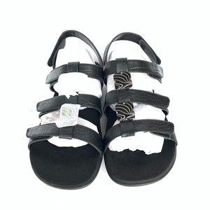 Vionic Orthaheel Amber Sandal - Size: 6, Black.